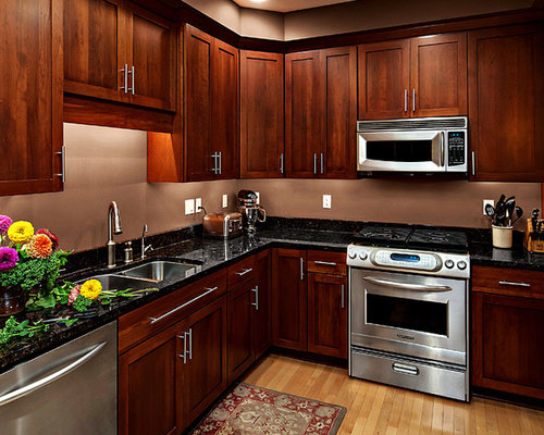 Cherry Cabinet Kitchen Designs 52 dark kitchens with dark wood and black kitchen cabinets Saveemail
