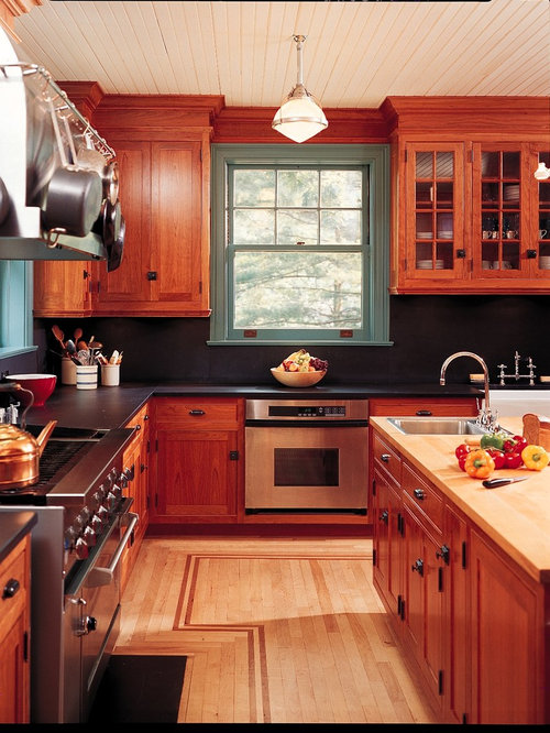 kitchen granite backsplash cherry stained cabinets houzz 1774
