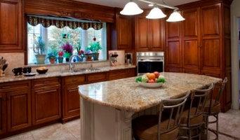 Cherry Kitchen with custom backsplash