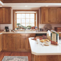 Cherry Shaker Cabinets in Rustic Kitchen - Kitchen Craft Cabinetry -