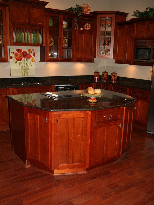 Cherry Shaker Kitchen Cabinets Home Design - shaker cherry kitchen cabinet designs