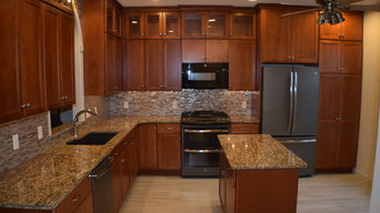 Cherry Shaker style kitchen