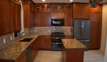 Cherry Shaker style kitchen