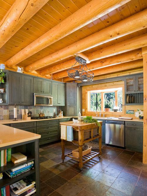 Knotty Pine Kitchen Cabinets Houzz