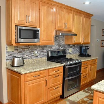 Chesterton, IN. Haas Signature Collection, Maple Honey Kitchen