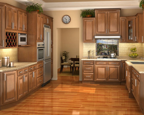 Chestnut Pillow Kitchen Cabinets | Kitchen Cabinet Kings