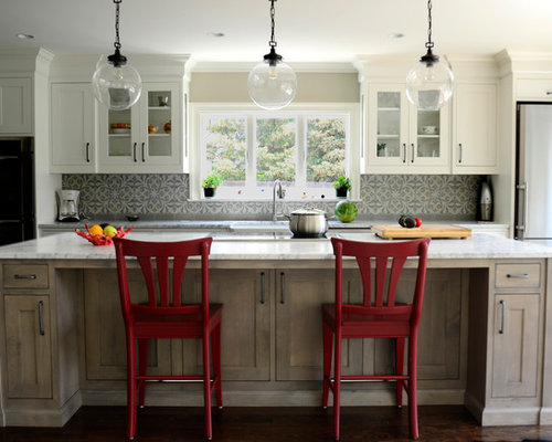 White Stained Cabinets | Houzz