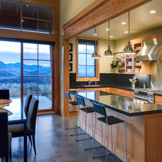 Rustic Kitchen by Balance Associates Architects