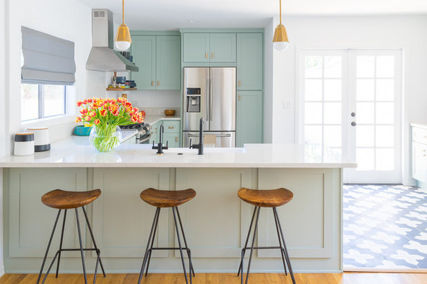 Transitional Kitchen by Black Lacquer Design