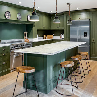 Chic Dark Olive Green Kitchen