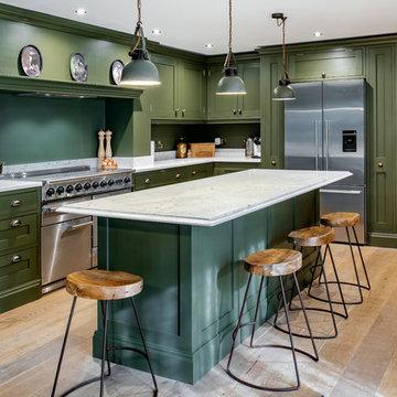 Chic Dark Olive Green Kitchen