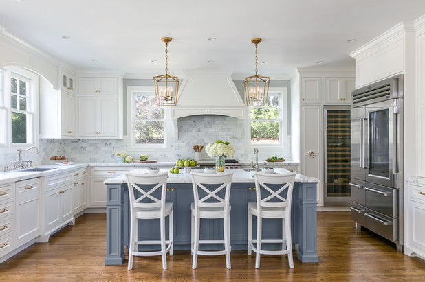 Transitional Kitchen by Christine Sheldon Design