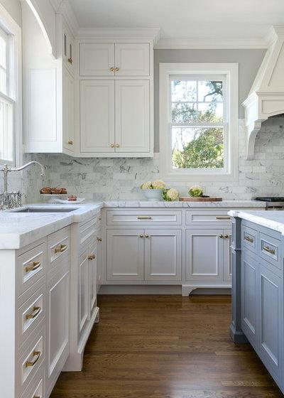 Transitional Kitchen by Christine Sheldon Design