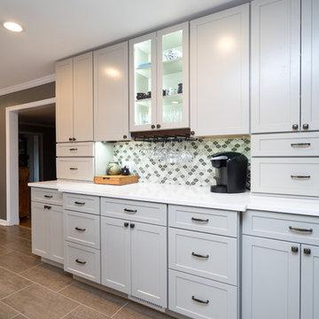 Chic Transitional Grey Kitchen