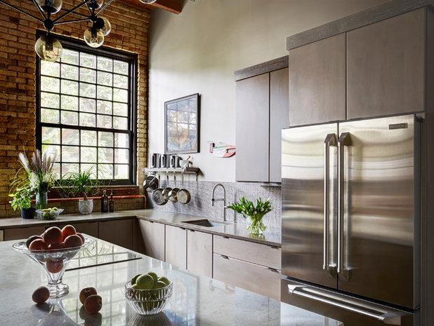 Best Industrial Kitchen by FMA Interior Design Inc
