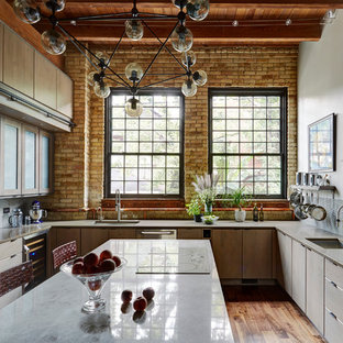 Chicago Industrial loft Kitchen.  Designed by Fred  Alsen of fma Interior Design