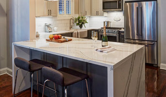 Chicago Transitional Style Kitchen with Marble Countertop