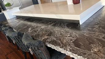 Chiseled edge on leather granite