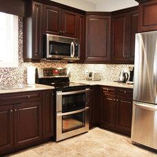 Eclectic Kitchen by Allen Interiors & Design Center Inc