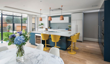 Houzz Tour: A Family Home With a Sunny Open-plan Kitchen