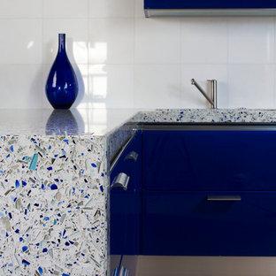 Chivalry Blue Vetrazzo Countertop