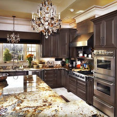 Traditional Kitchen by Calvery's Booneville Cabinet Company