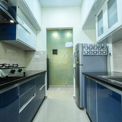 Kitchen - modern galley kitchen idea in Bengaluru