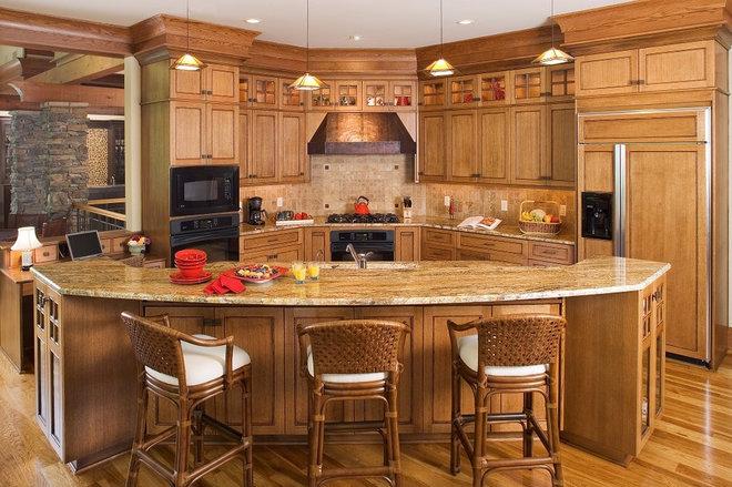 Rustic Kitchen by ID Studio Interiors