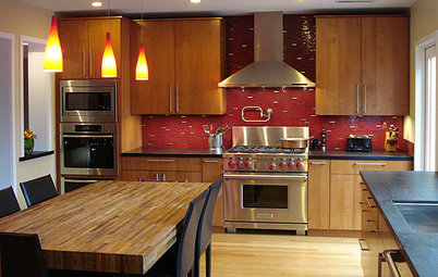 Your Kitchen: Great Backsplashes For Wood Cabinets