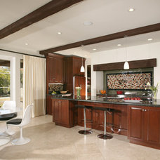 Mediterranean Kitchen by Christian Rice Architects, Inc.