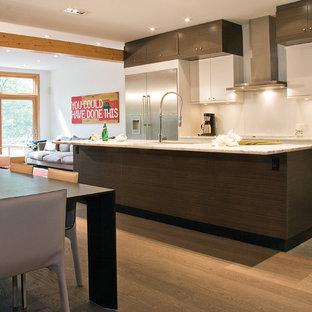 Merveilleux Modern Open Concept Kitchen Inspiration   Minimalist Open Concept Kitchen  Photo In Toronto With Stainless Steel