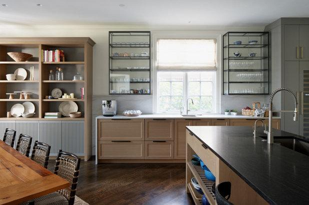 Transitional Kitchen by lisa schmitz interior design