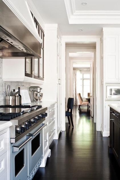 Transitional Kitchen by Jennifer Worts Design Inc.