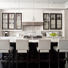Transitional Kitchen by Jennifer Worts Design Inc.