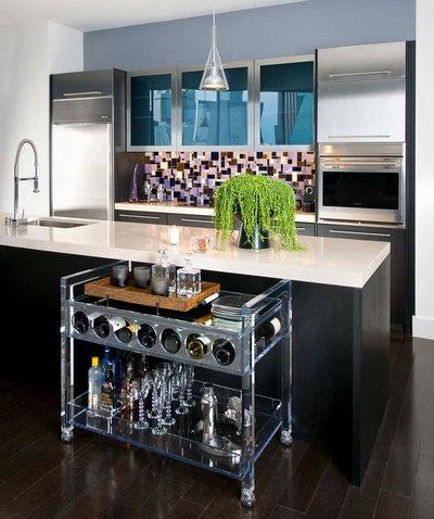 Contemporary Kitchen by Linda Fritschy Interior Design