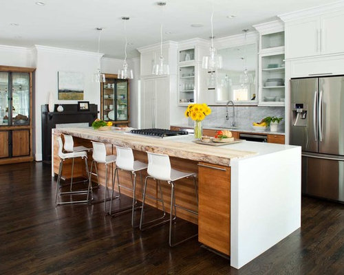 Arctic white corian home design ideas pictures remodel for Arctic white kitchen cabinets