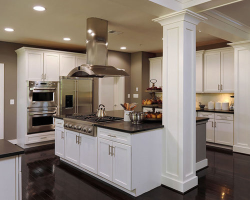 kitchen columns houzz