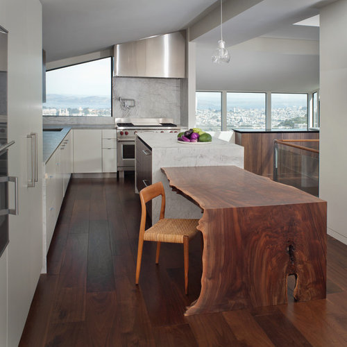 Kitchen Island Table Houzz: Table Attached To Island Ideas, Pictures, Remodel And Decor