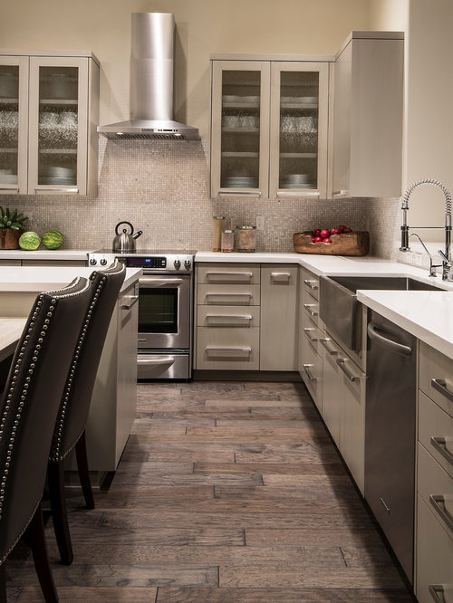 off white kitchen cabinets. Transitional eat in kitchen designs  Example of a transitional design Off White Kitchen Cabinets Houzz