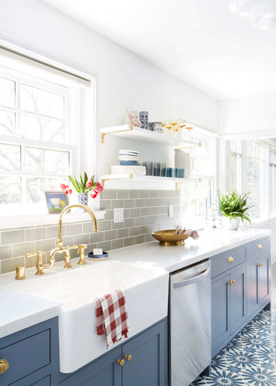 Eclectic Kitchen by Fireclay Tile