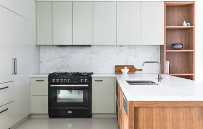 Room of the Week: A Kitchen in Serene Green and Spotted Gum
