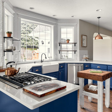 Classic Blue and White Kitchen