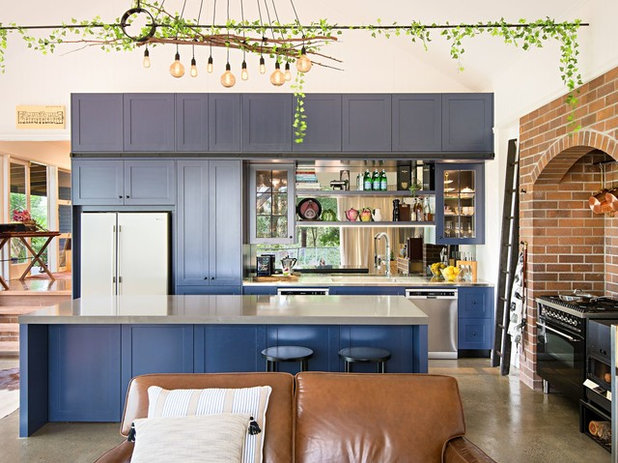 Eclectic Kitchen by Erwin Interiors & Cabinet Makers
