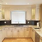 Granite quartzite marble quartz countertops traditional for Classic kitchen cabinets toronto