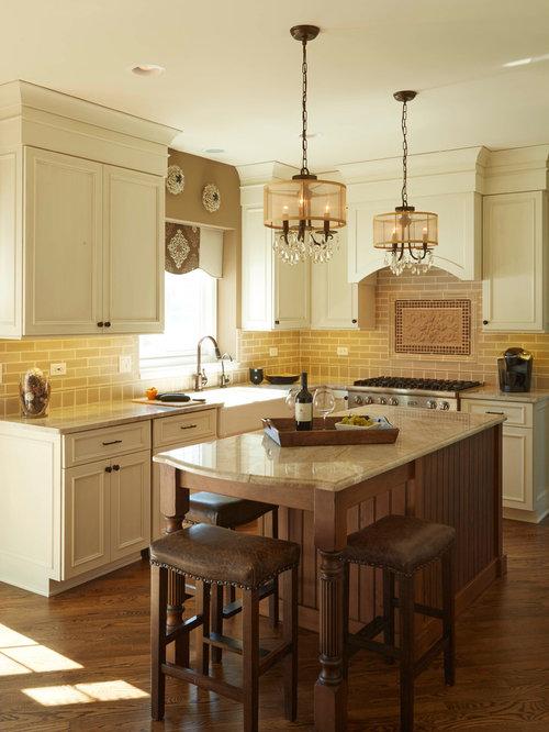 Mid Sized Transitional Kitchen Design Ideas Renovations
