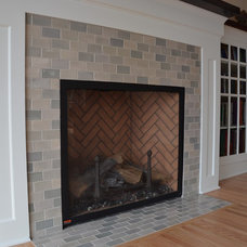 Modern Family Room by Mercury Mosaics and Tile