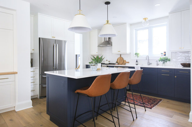 Transitional Kitchen by Eagleview Construction