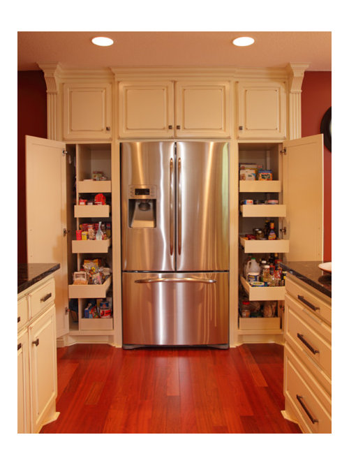 Pantry Around Refrigerator | Houzz