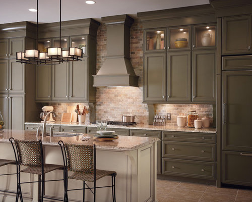 Classic Kitchen Cabinets Prepossessing Classic Kitchen Cabinets  Houzz Decorating Inspiration
