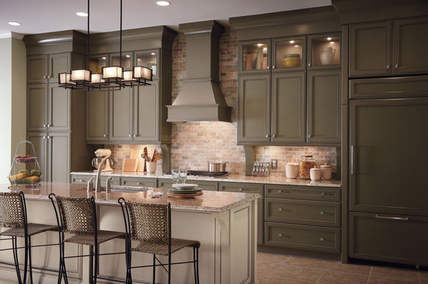 American Traditional Kitchen by Lily Ann Cabinets